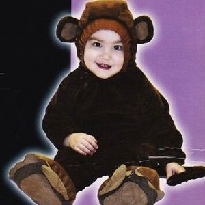 Baby monkey animal onesie / costume 6-12 mths